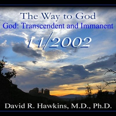 God: Transcendent and Immanent Nov 2002 dvd